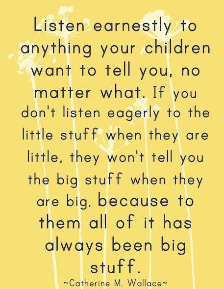 Casie this reminds me of you because you always listen to children and make them feel special.