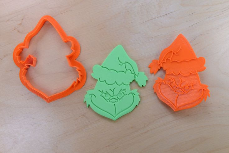 Smirking Grinch Cookie Cutter and Stamp Set by CookieCutters4U on Etsy