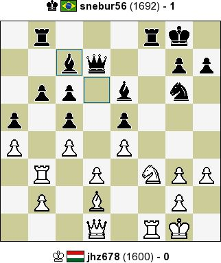 jhz678 vs snebur56 - 0:1 - InstantChess.com: Classic Chess, 15 min + 0 sec, Rated Game, C69 Ruy Lopez: exchange variation, 5.O-O, White resigned