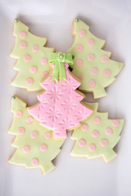 Decorated tree cookies at a Fairy Princess party!  See more party ideas at CatchMyParty.com!  #partyideas #christmas