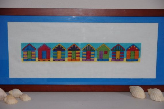 Beach Boxes / Bathing Huts Cross Stitch by SpareTimeCrossStitch