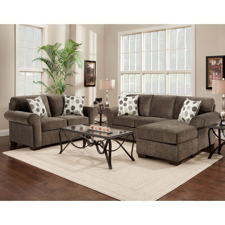 Upgrade Your Living Space Instantly With This Grey Toned Sectional And  Loveseat Set By Elizabeth Ash