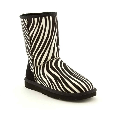 Shop for Womens UGG Classic Short Boot in BlackWhite at Journeys Shoes. Shop today for the hottest brands in mens shoes and womens shoes at Journeys.com.The UGG Classic features a sheepskin upper and a soft fleece lining to keep your feet nice and toasty. 8 shaft. This style features an exotic zebra print upper! Available only online at http://Journey.com and SHIbyJourneys.com!