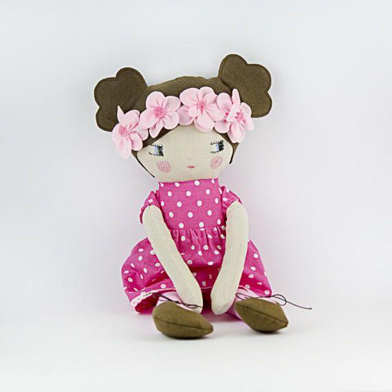 Cute 22 fabric doll   Ragdoll  Baby doll  Dress up