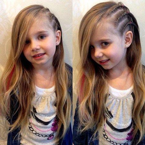 Neem een kijkje op de beste kinderkapsels in de foto's hieronder en krijg ideeën voor uw fotografie!!! triple braid and pony little girl hairstyle Image source