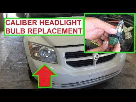 Headlight Bulb Replacement Dodge Caliber.  How to Replace headlight bulb...