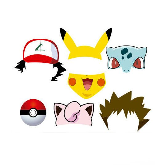 Pokemon Photo Booth Props Set 7 pieces par PartyPropsDesigns