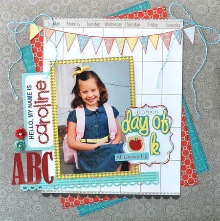 School scrapbook layout. my baby is about to start kindergarten...