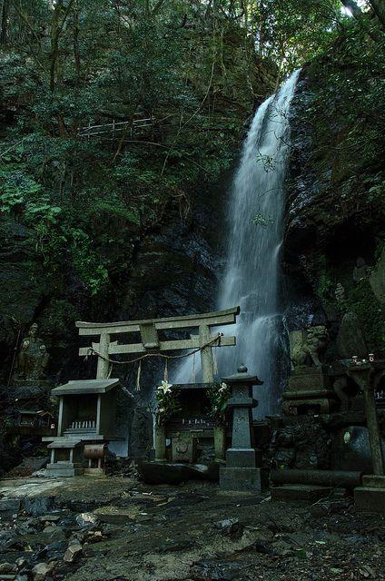 Waterfall, Kyoto, Japan