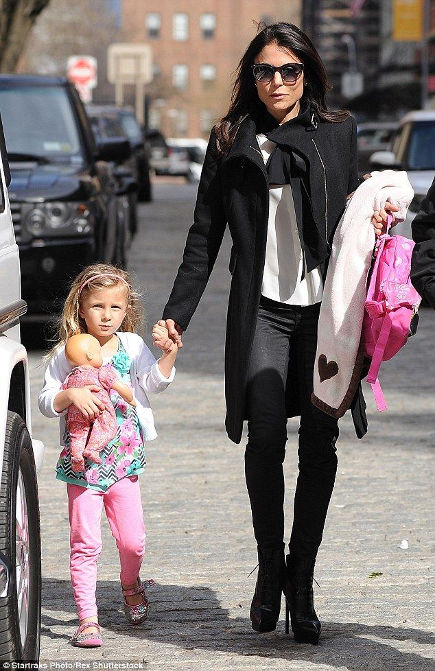 Family bonding: Real Housewives Of New York City star Bethenny Frankel was spotted with he...