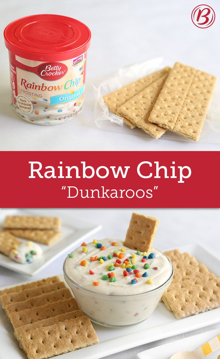 Check Out Rainbow Chip Frosting Quot Dunkaroos Quot It S So Easy