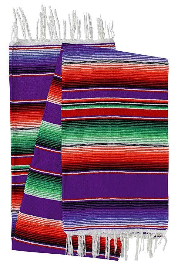El Paso Designs Mexican Serape Blankets Bright /& Colorful Saltillo Serape Blanket