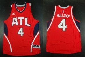 NBA Atlanta Hawks #4 Paul Millsap Red Jersey