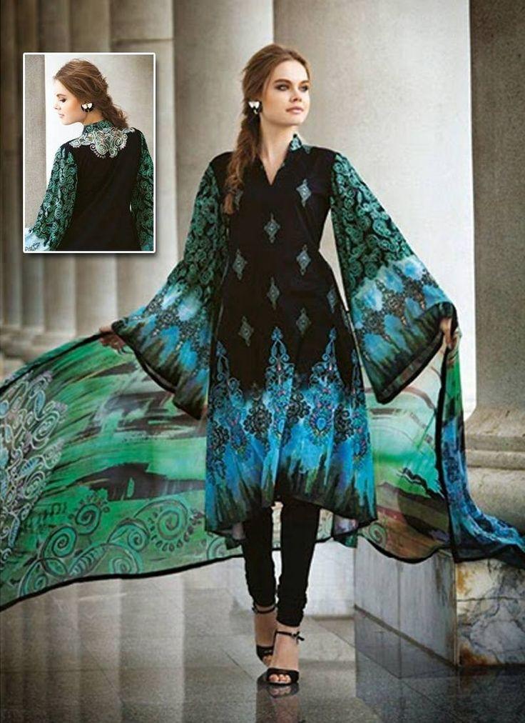 Black Crepe Chiffon Designer Salwar