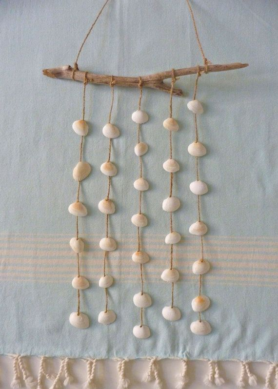 beachcomber driftwood shell mobile wind chime by beachcomberhome