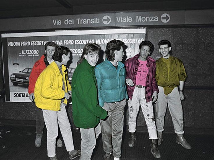 Paninaro in Milan, mid-1980s