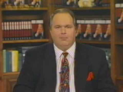Rush Limbaugh TV- The Ponytailed Guy Turns Election '92