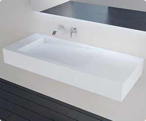 Functional beauty meets compatible style in the WT-05 solid surface wall mounted sink. This conversational piece is an innovative design of elegance that is pure in its clean lines and serene curves. The convenient slope is a practical and modern touch that refreshes any bath with its luxurious relevance. This beautiful wall mounted bathroom ramp sink offers durability in its most contemporary form. Add style and substance to your bathroom and create a focal point that begs your attention…