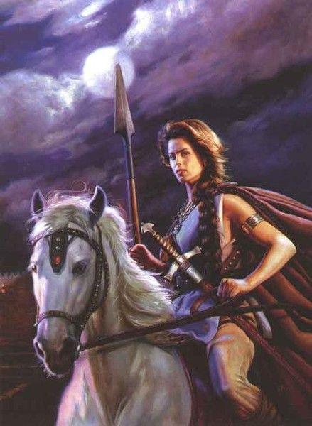 девушка на коне.девушка-воин