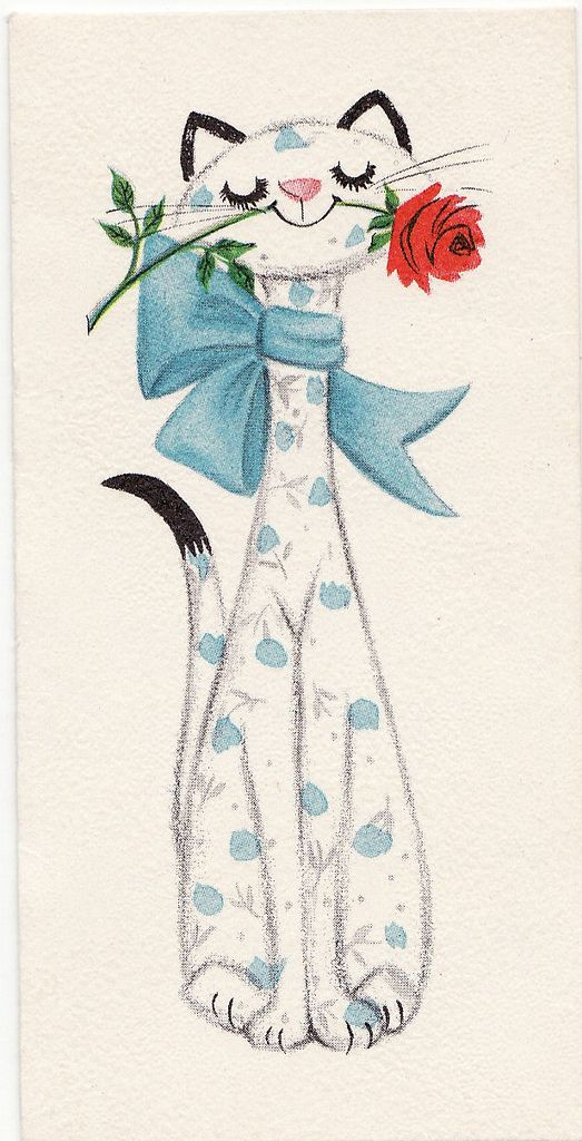 Uma Lindíssima Gata segurando uma Flor