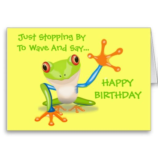 Cute Frog Funny Animal Kids Happy Birthday Card Funny Cards And Birthdays