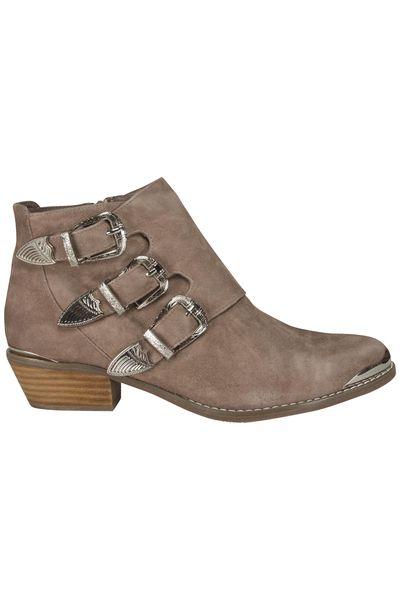 Sofie Schnoor Suede Sand Buckle Boot
