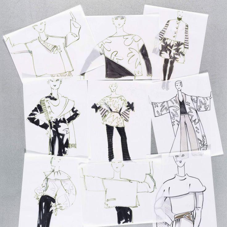 Bill Blass sketches-Wmag