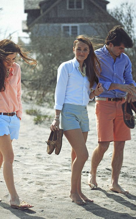 button downs at the beach: New England style