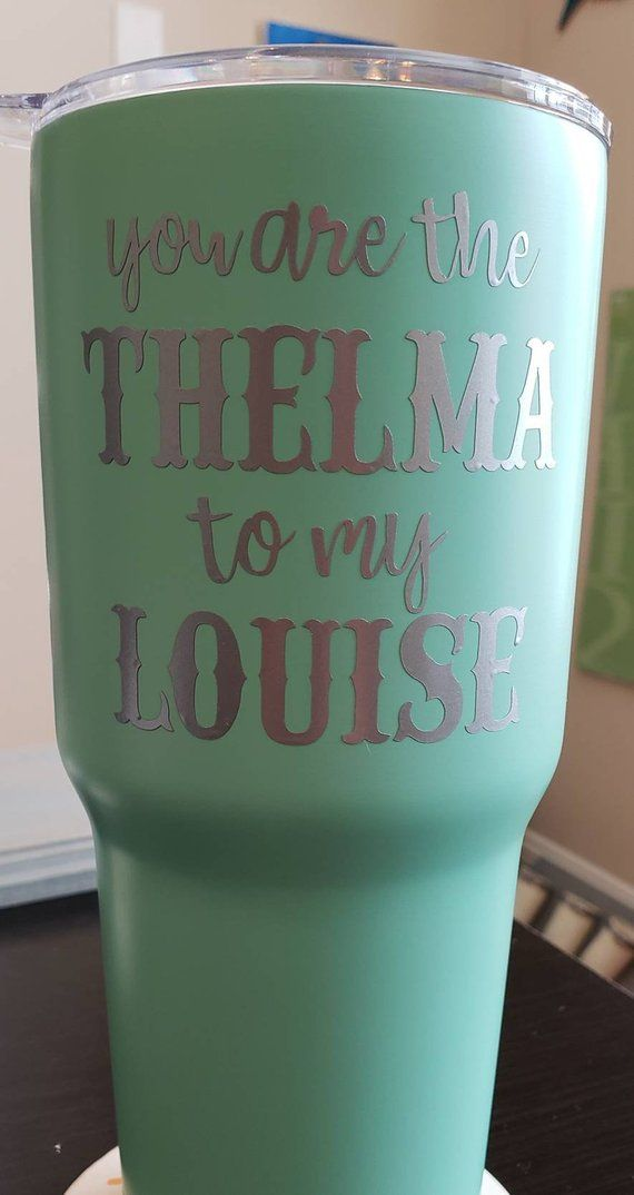 25adde58a87 Thelma & Louise Tumbler | Etsy Boutique | Tumbler, Gifts, Resin crafts