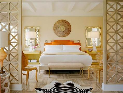 tides south beach hotel room by kelly wearstler. ultra-fab.: Beaches, Interior, Miami, Bedrooms, Master Bedroom, Kelly Wearstler, South Beach, Hotels