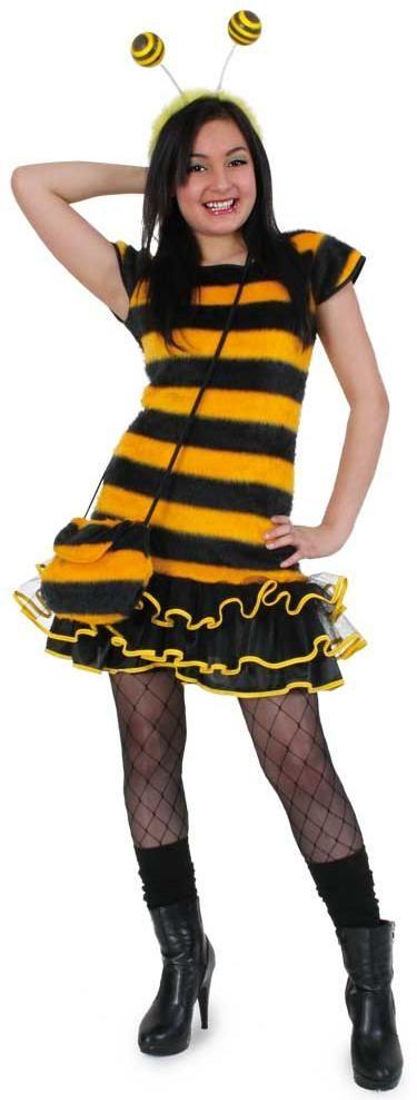 Die Tiere sind los! Ein flauschiges Bienenkostüm nicht nur für Fasching und Karneval. Auch für Theater, Kleinkunst oder Events einsetzbar.