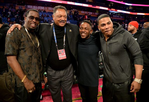 Nelly Jesse Jackson Photos - (L-R) Sean Combs, Reverend Jesse Jackson, Kendrick Lamar, and Nelly attend the State Farm All-Star Saturday Night during the NBA All-Star Weekend 2014 at The Smoothie King Center on February 15, 2014 in New Orleans, Louisiana. - State Farm All-Star Saturday Night - NBA All-Star Weekend 2014