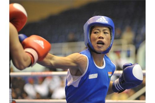 Mary Kom Chasing the Gold with her Punch at London Olympics 2012