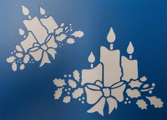 Christmas Candles Stencil by kraftkutz on Etsy