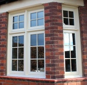 Timber Flush Casement Windows - Newcastle upon Tyne - Flush Casements with recessed sash detail - Arts and Crafts House, Newcastle - Blackthorn Timber