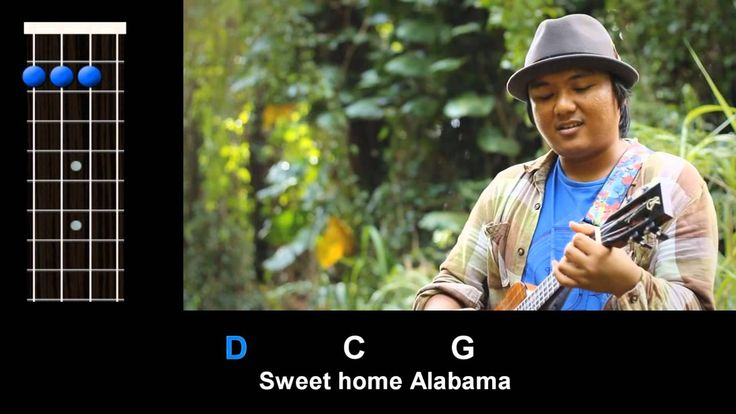 Sweet home alabama.  Learn the PICKING for this song at - http://ukuleleunderground.com/2012/09/uke-lesson-57-sweet-home-alabama/ ! Play along with Aldrine, Russbus415, and Baron...
