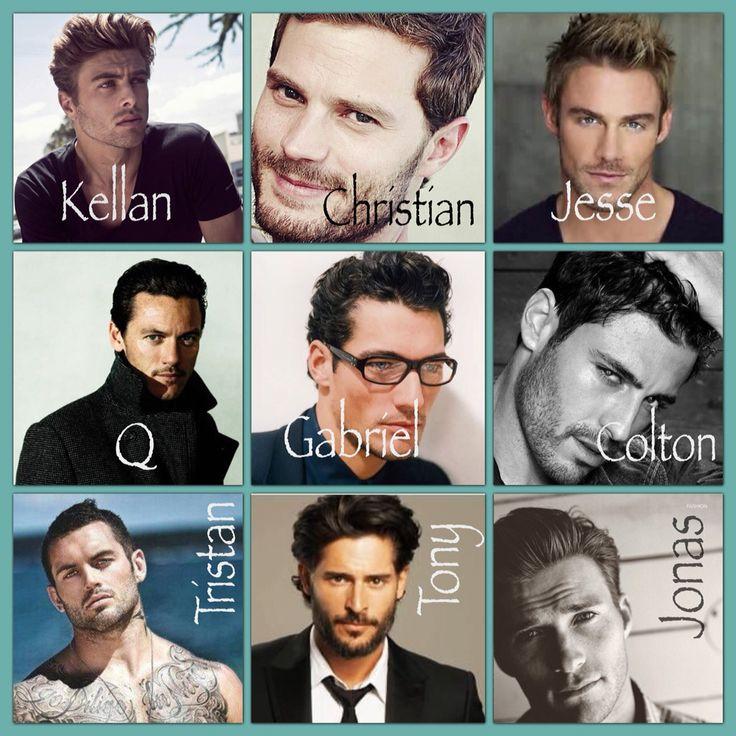 My book boyfriends  Kellan Kyle, Christian Grey, Jesse Ward, Q Mercer, Gabriel Emerson, Colton Donovan, Tristan Vega, Tony Rawlings, Jonas Faraday ❤️