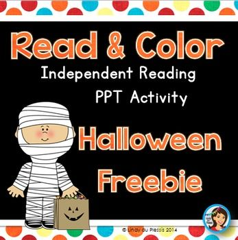 Halloween Read and Color PowerPoint Freebie - enjoy!