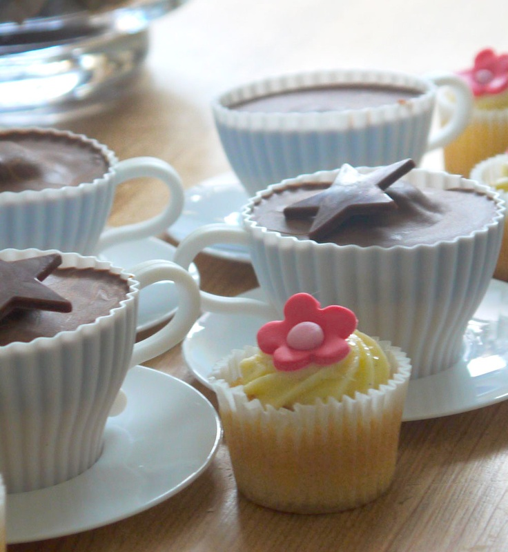 Afternoon tea cup cakes.