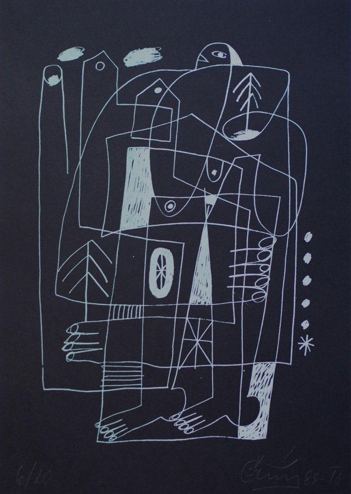 New to ArtBanana gallery! Černý 85: Untitled #1 / silk-screen print