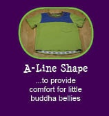 12 reasons why Peekaboo Beans is different from other kids clothing brands.   REASON #5 - A LINE SHAPE