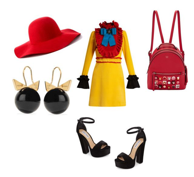 Guchi by m-elizarjeva on Polyvore featuring polyvore fashion style Gucci Steve Madden Fendi Scala clothing