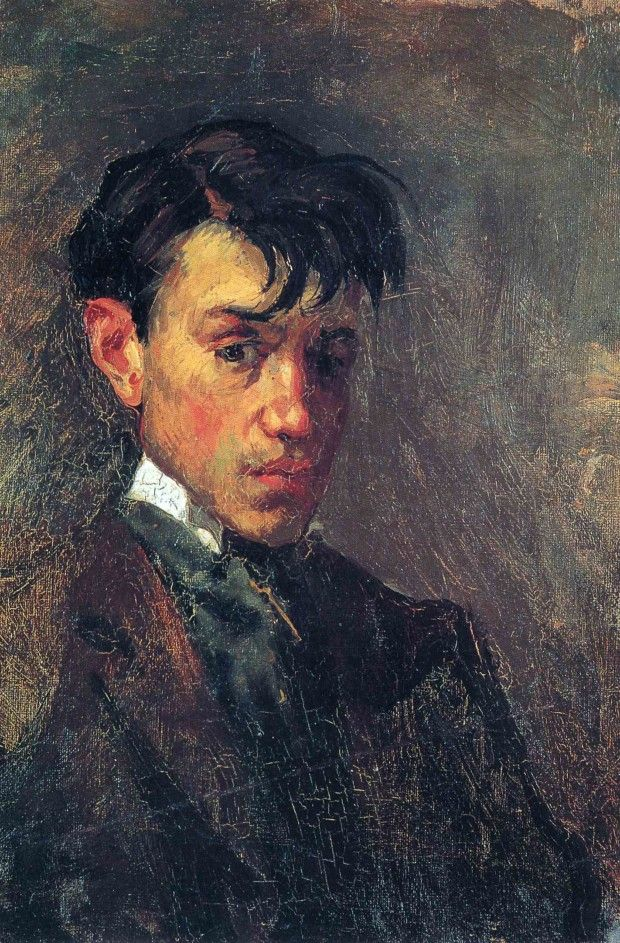 Pablo Picasso, Self-Portrait, 1896, Museu Pablo Picasso, Barcelona early picasso
