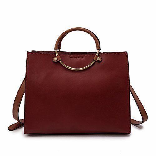 5cdf1b60fbf9 Lanvera Women s Tote Shoulder Bag Genuine  Leather Top Han... www.amazon