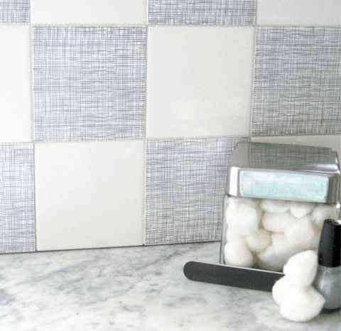 How To Cover Ugly Fruit Tile In Kitchen