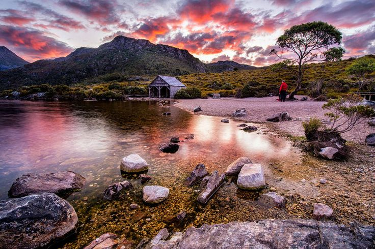 Boat Shed by the Dove Lake, Cradle Mountain National Park, Tasmania