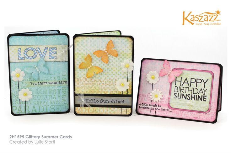 2H1595 Glittery Summer Cards