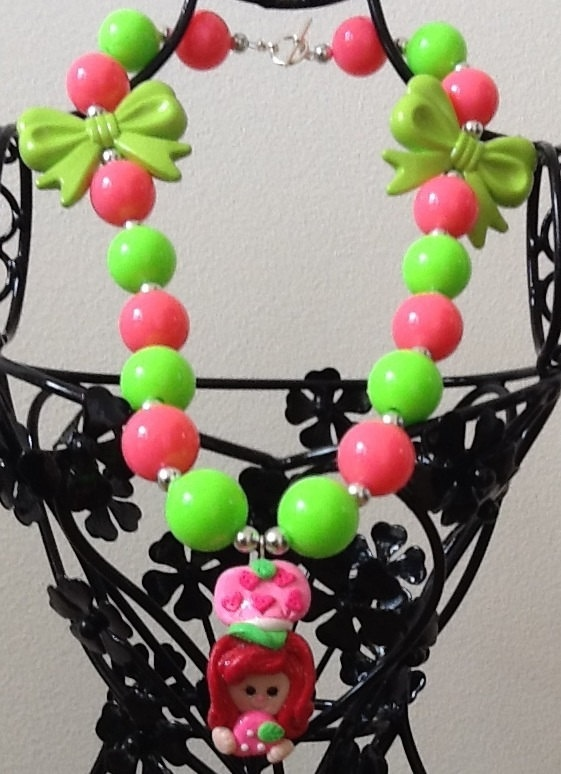 46 best chunky necklace images on pinterest chunky chain for Strawberry shortcake necklace jewelry