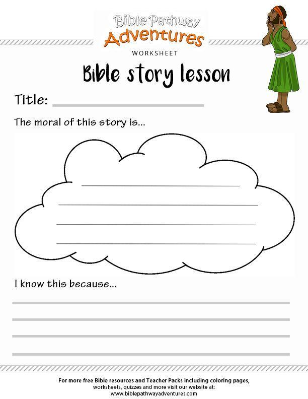 Bible story lesson worksheet | Christian Activities & Clip Art ...