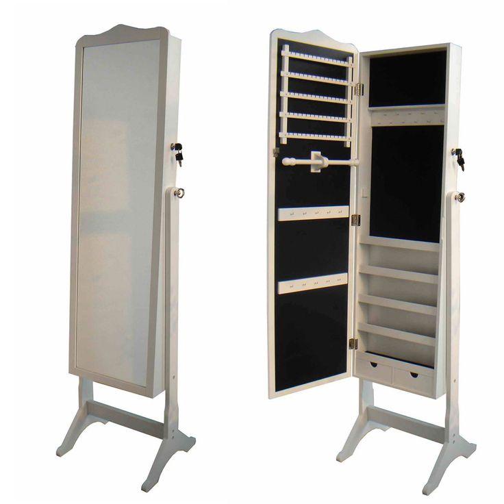 Зеркало напольное с секцией для хранения аксессуаров